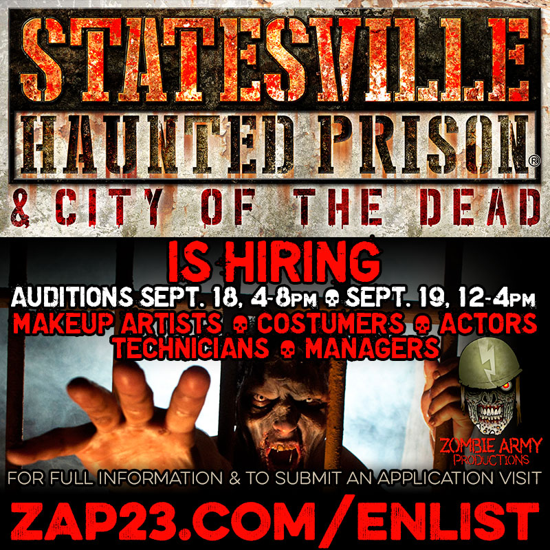 Statesville Haunted Prision Auditions